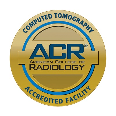 Computerized tomography ACR American college of radiology accredited facility